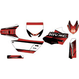 Attack Graphics Custom Turbine Complete Bike Graphics Kit Black/Brick Red