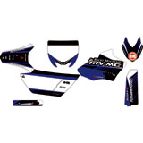 Attack Graphics Custom Turbine Complete Bike Graphics Kit YZ Blue/Black