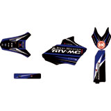 Attack Graphics Custom Blitz Full Trim Kit Black/YZ Blue
