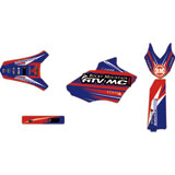 Attack Graphics Custom Blitz Full Trim Kit YZ Blue/Red
