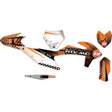 Attack Graphics Custom Havoc Complete Bike Graphics Kit Black/Orange