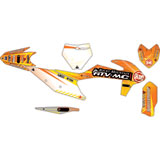 Attack Graphics Custom Havoc Complete Bike Graphics Kit Orange/Yellow