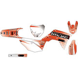 Attack Graphics Custom Havoc Complete Bike Graphics Kit Red/White