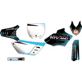 Attack Graphics Custom Havoc Complete Bike Graphics Kit Black/Baby Blue