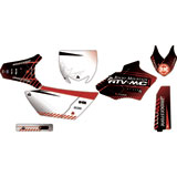 Attack Graphics Custom Havoc Complete Bike Graphics Kit Black/Brick Red
