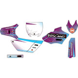 Attack Graphics Custom Havoc Complete Bike Graphics Kit Purple/Baby Blue