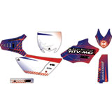 Attack Graphics Custom Havoc Complete Bike Graphics Kit YZ Blue/Red