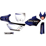 Attack Graphics Custom Havoc Complete Bike Graphics Kit YZ Blue/White