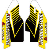 Attack Graphics Turbine Lower Fork Guard Decal Yellow
