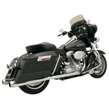Bassani Xhaust +P Bagger Stepped True-Dual Exhaust System with Power Curve (No CA)