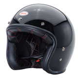 Bell Custom 500 Solid Open-Face Motorcycle Helmet Black