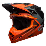 Bell Moto-9 Carbon Flex Helmet Hound Orange/Charcoal