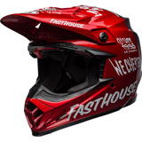 Bell Moto-9 Carbon Flex Fasthouse Helmet Red/Navy