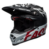Bell Moto-9 Flex Fasthouse WRWF Helmet Matte/Gloss Black/White/Red