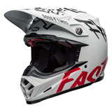 Bell Moto-9 Flex Fasthouse WRWF Helmet Matte White/Black/Red