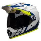 Bell MX-9 Adventure Dash MIPS Helmet White/Blue/Hi-Viz