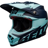 Bell Moto-9 Flex Breakaway Helmet Matte Navy/Light Blue