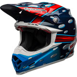 Bell Moto-9 Flex McGrath Replica Helmet Gloss Blue/Red/Black