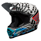 Bell Youth Moto-9 Tagger Check Me Out MIPS Helmet White/Black