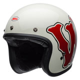 Bell Custom 500 RSD WFO Helmet White/Red