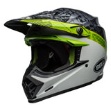 Bell Moto-9 MIPS Helmet 2019 Chief Black/White/Green