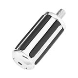 Biker's Choice Chrome-N-Cushion Rail Shifter Peg