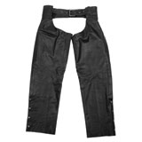 Black Brand Torque Leather Motorcycle Chaps