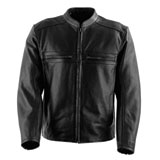Black Brand Fahrenheit Perforated Leather Motorcycle Jacket