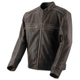 Black Brand Two Lane Leather Motorcycle Jacket