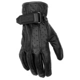 Black Brand Women's Breathe Leather Motorcycle Gloves
