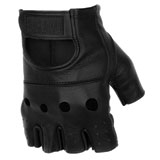 Black Brand Bare Knuckle Shorty Leather Motorcycle Gloves