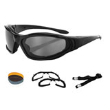 Bobster Raptor II Convertible Sunglasses Black