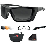 Bobster Trident Convertible Sunglasses Black
