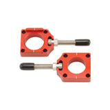 Bolt Billet Aluminum Chain Adjuster Blocks Red