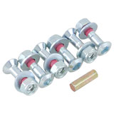 Bolt CRF Style Hub-Savers Double Locked Sprocket Fastening Kit Silver