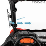 Can-Am Side Windshield Deflectors Clear