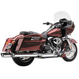 "Cobra 4"" Slip-On Mufflers with Scallop Cut Tips (No CA)"