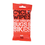 Cycle Wipes Disposable Visor/Bike Cleaners