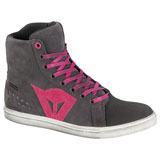 Dainese Women's Street Biker D-WP Riding Shoes Anthracite/Fucsia