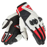Dainese Mig C2 Gloves Black/White/Red Lava