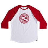 DC Research 3/4 Sleeve Raglan T-Shirt Tango Red/Snow White