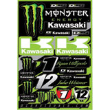 D'Cor Visuals Team Monster Energy Kawasaki Decal Sheet