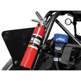 Dragonfire Racing Quick Release Fire Extinguisher Mount With Fire Extinguisher Matte Black/Red