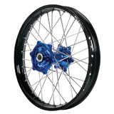 Dubya Complete Rear Wheel Kit with Talon Billet Hub & DID Dirtstar STX Wheel Black Rim/Blue Hub