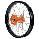Dubya Complete Rear Wheel Kit with Talon Billet Hub & DID Dirtstar STX Wheel Black Rim/Orange Hub
