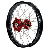 Dubya Complete Rear Wheel Kit with Talon Billet Hub & DID Dirtstar STX Wheel Black Rim/Red Hub
