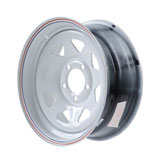 Duro Trailer Wheel, 5 on 4.5 Bolt Pattern