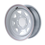 Duro Trailer Wheel, 6 on 5.5 Bolt Pattern