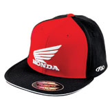 Factory Effex Honda Big Flex Fit Hat Black/Red