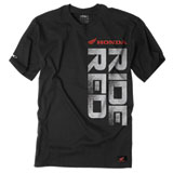 Factory Effex Honda Ride Red Vert T-Shirt  Black
